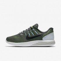Nike lunarglide 8 para mujer gris oscuro/verde fantasma/azul glacial/negro_242