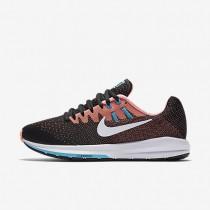 Nike air zoom structure 20 para mujer negro/lava resplandor/azul cloro/blanco_249