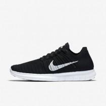 Nike free rn flyknit para mujer negro/blanco_253