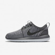 Nike roshe two flyknit para mujer gris oscuro/platino puro/gris oscuro_266