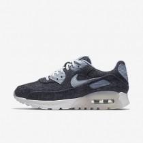Nike air max 90 ultra premium para mujer azul marino medianoche/blanco/gris azulado_302