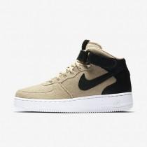 Nike air force 1 07 mid leather premium para mujer crudo/negro/crudo/negro_311