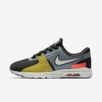 Nike air max zero si para mujer negro/gris azulado/carmesí total/hueso claro_322