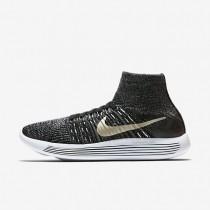 Nike lunarepic flyknit bhm para mujer negro/blanco/estrella de oro metálico_346