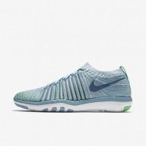 Nike free transform flyknit para mujer azul mica/verde eléctrico/voltio/niebla océano_356