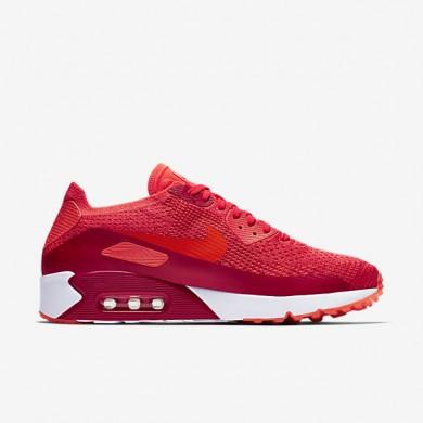 Nike air max 90 ultra 2.0 flyknit para hombre carmesí brillante/rojo universitario/naranja_004