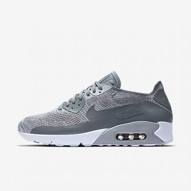 Nike air max 90 ultra 2.0 flyknit para hombre platino puro/blanco/gris lobo/gris azulado_009