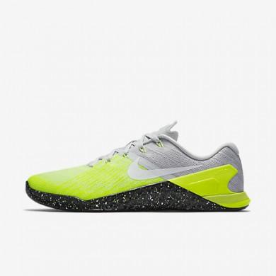 Nike metcon 3 para hombre platino puro/voltio/verde fantasma/negro_048