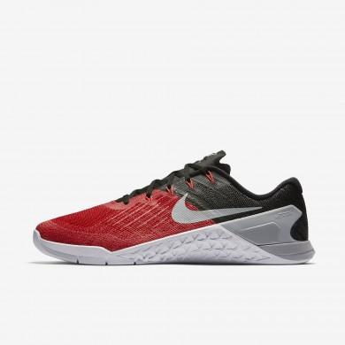 Nike metcon 3 para hombre rojo universitario/negro/blanco/gris lobo_050