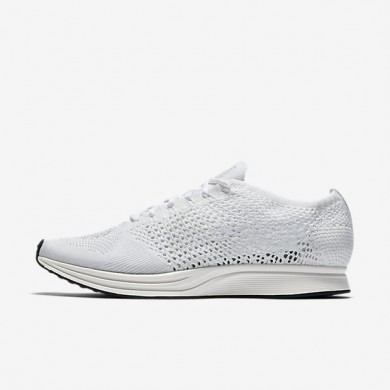 Nike flyknit racer para hombre blanco/vela/platino puro/blanco_010