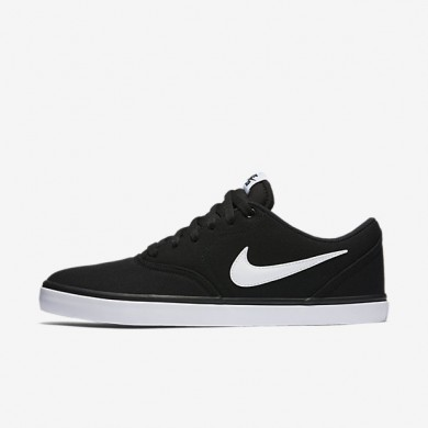 Nike sb check solarsoft canvas para hombre negro/blanco_646