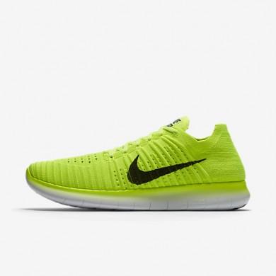 Nike free rn flyknit para hombre voltio/blanco/negro_759