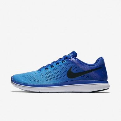 Nike flex 2016 rn para hombre azul carrera/azul resplandor/blanco/negro_760